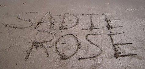 Sadie in sand